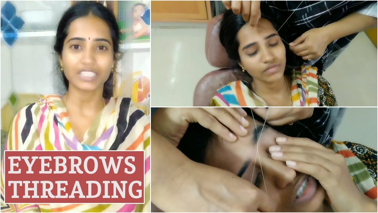 My Eyebrows Threading At Parlor // Eyebrow Threading in Telugu // Simple & Easy Tutorial