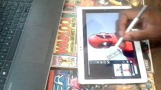 Deadpool Drawing on Samsung Galaxy Note tablet.
