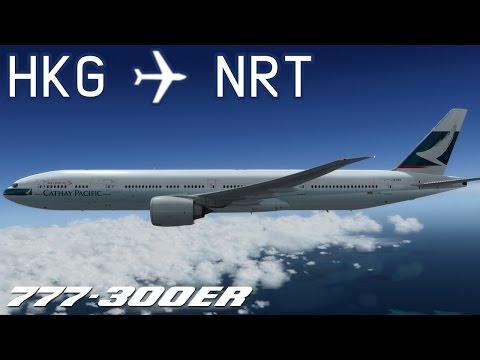 [P3D] Hong Kong to Tokyo Narita | CPA504 | Cathay Pacific | PMDG 777-300ER | IVAO