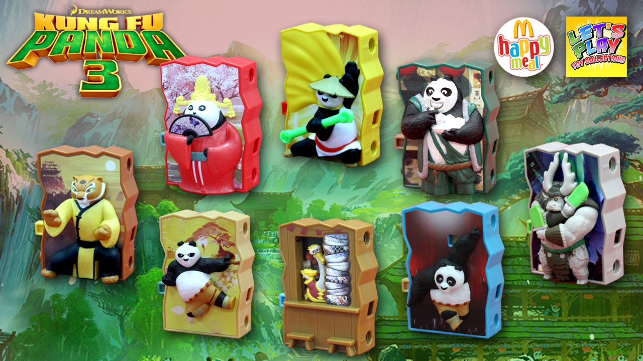 2016 Kung Fu Panda 3 Mcdonald S Happy Meal Complete Set Of 8 Toys Youtube