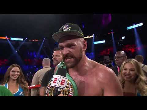 Tyson Fury calls out Deontay Wilder in Post Fight Interview