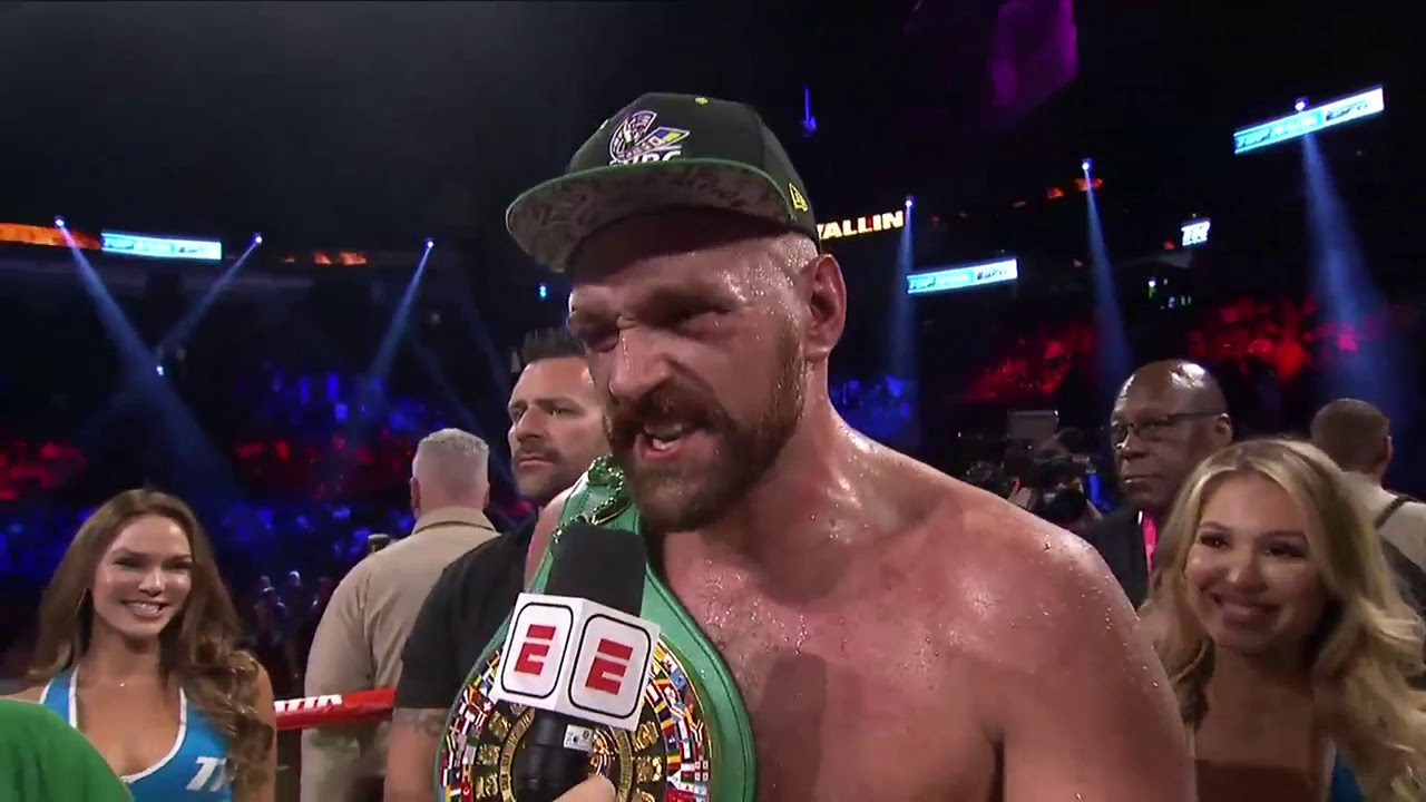 Download Tyson Fury calls out Deontay Wilder in Post Fight Interview