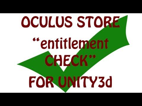 Oculus Store Entitlement check for Unity3d builds (tutorial)