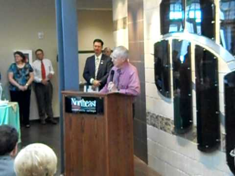 J Paul McIntosh's speech at the open house for the J Paul and Eleanor McIntosh College of Nursing
