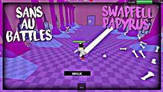 Roblox Sans Au Battles: SwapFell Papyrus (Solo)
