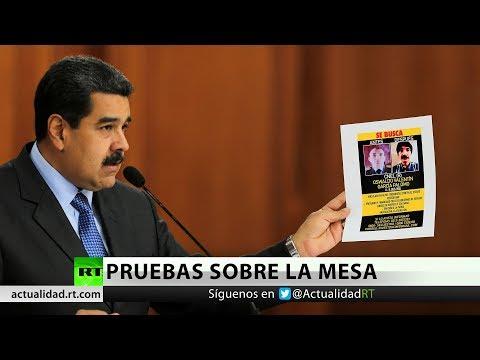 Nicolás Maduro muestra pruebas del atentado fallido