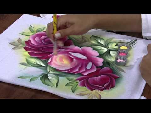 Pintura em Tecido (Rosas) por Ana Laura Rodrigues - 25/04/2013 - Mulher.com - Parte 2/2