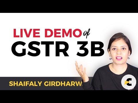 Filing GSTR 3B - LIVE DEMO through GSTIN Portal - First Return of GST
