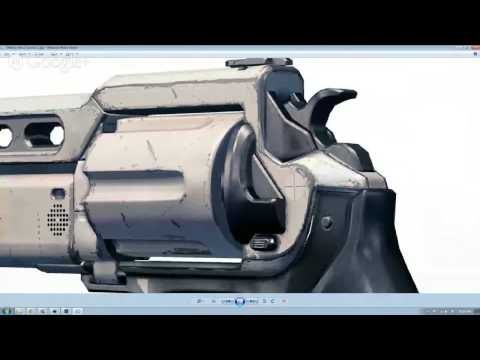 Prop: Live - Drawing the Destiny Hand Cannon Blueprint