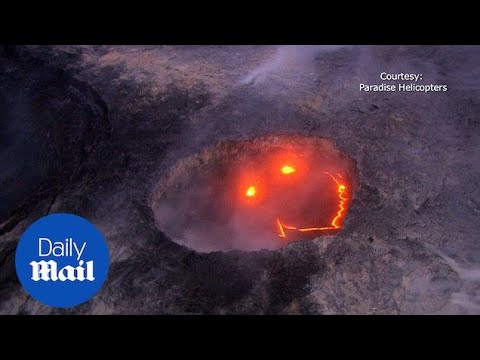 The active Kilauea volcano appeared to be smiling today - Daily Mail
