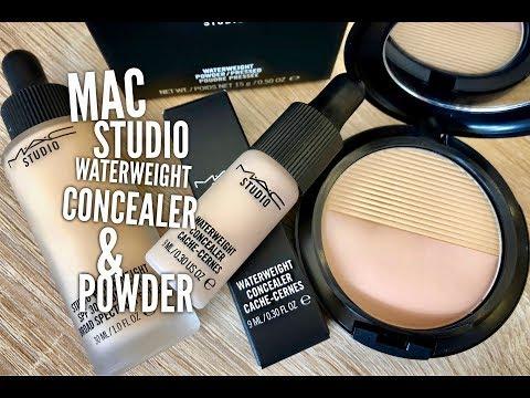 New MAC Studio Waterweight Concealer & Pressed Powder Demo & First Impressions