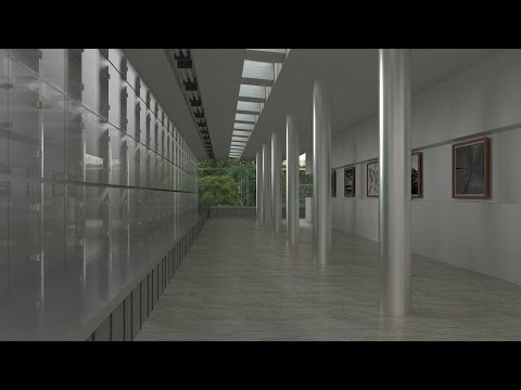 How to make a museum hall in Blender! Part 1 Modeling