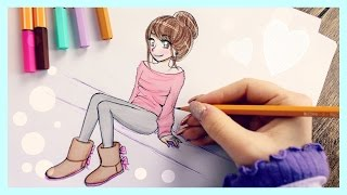 One of Debby Arts's most viewed videos: ❤ Drawing Tutorial - How to draw a Girl with UGGS ❤