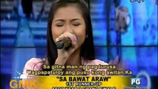Ms. Shanne Velasco performs, Sa Bawat Araw composed by Marlon Nabia...
