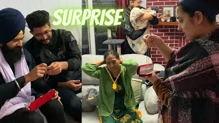SURPRISING MY BHUA JI WITH A GOLD CHAIN *most genuine reaction*