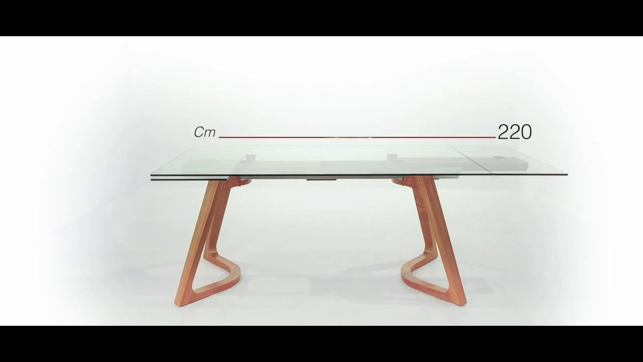 Tavolo Da Pranzo Allungabile Vetro.Tavolo Da Pranzo Allungabile Fino 260 Cm In Vetro Malco Design