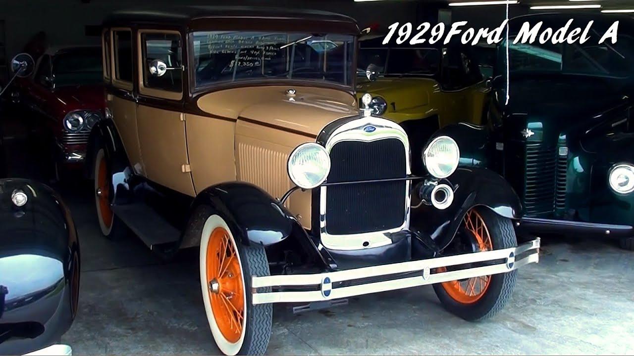 1929 Ford Model A Sedan - Original Flathead Four - YouTube