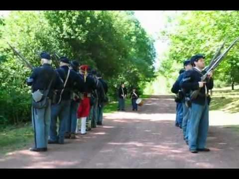 Civil War Union Soldier Drill