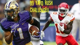 JOHN ROSS VS TYREEK HILL WHO CAN GET A 99YD RUSH FIRST WHOS FASTER