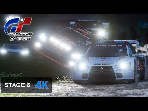 Gran Turismo Sport Onboard 4K Nissan Rally Night Race [Mission Challenge] Stage 6 Gameplay