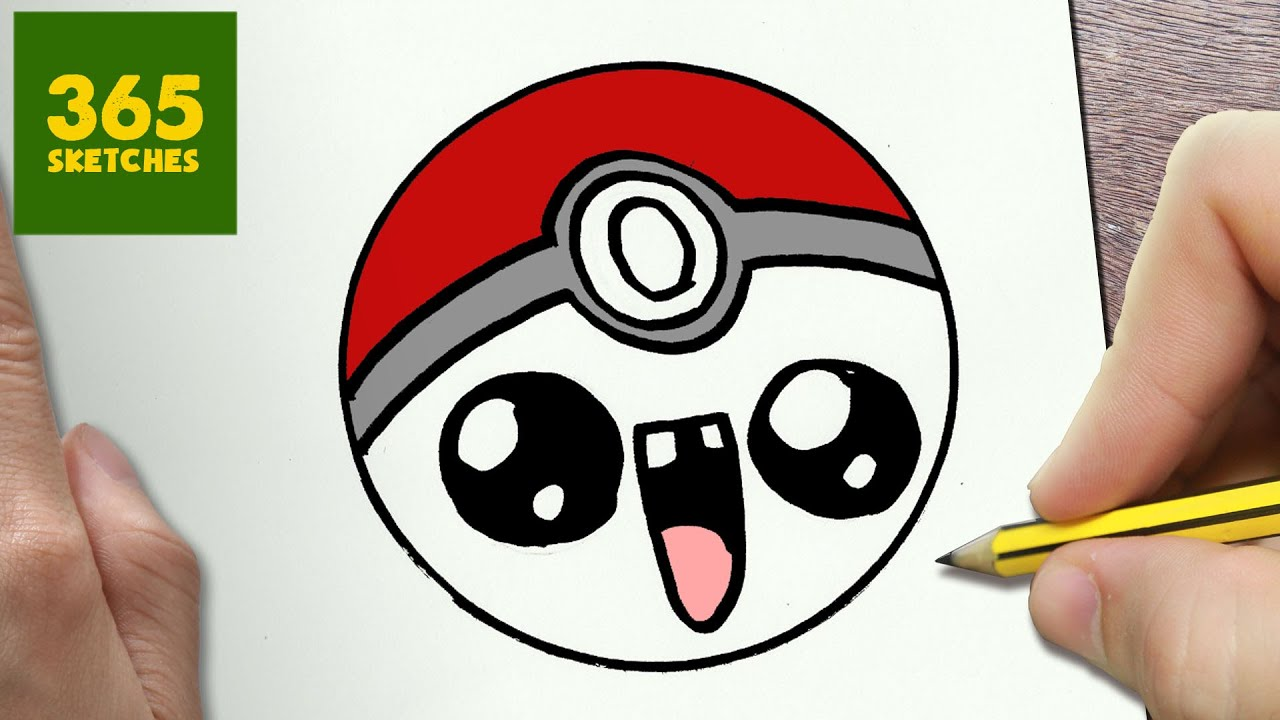 Uncategorized How To Draw Pokemon Ball how to draw a pokeball cute easy step by drawing lessons for kids youtube