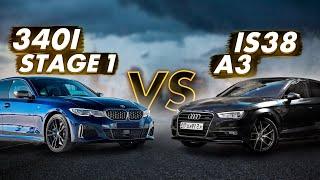 ЛЮТЕЙШАЯ Audi A3 is38 400ЛС УНИЧТОЖАЕТ BMW 340i g20 Stage1 jb4.
