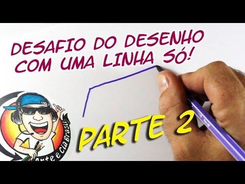 DESAFIO DO DESENHO COM UMA LINHA (DIAMANTE) ONE LINE ART CHALLENGE