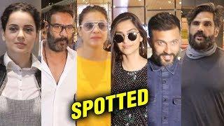 Kangana Ranaut, Sonam Kapoor- Anand Ahuja, Ajay Devgn- Kajol And Other Stars SPOTTED At The Airport