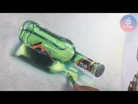 نقاشی مداد رنگی اشیا شیشه ای و سه بعدی (دوره مداد رنگی۱