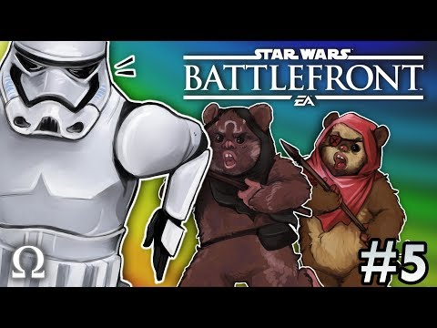 HUNTING STORM TROOPERS AS EWOKS!  Star Wars Battlefront 2 #5 Multiplayer Ft Cartoonz