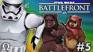 HUNTING STORM TROOPERS AS EWOKS! | Star Wars Battlefront 2 #5 Multiplayer Ft. Cartoonz