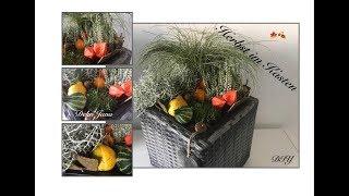 DIY: herbstlicher Pflanzkasten 🍁🍂, Außendeko- Herbstdeko für Balkon oder Terrasse,  / Deko Jana