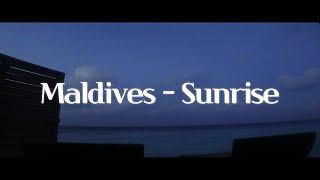 [몰디브] - 넓은 바다 위 리조트의 일출영상!