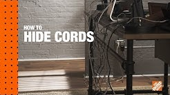 How to Hide  TV Wires On a Wall & Desk Cable Management
