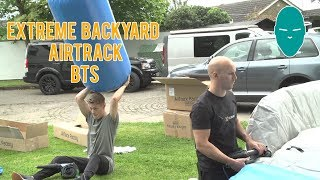 Extreme Backyard Airtrack BTS | Damien Walters