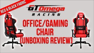 ★gt Omega Pro Racing Office/gaming Chair - Red & Black Fabric [unboxing Review] ★