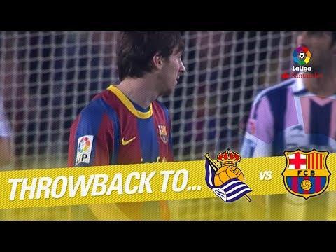 Resumen de Real Sociedad vs FC Barcelona (2-1) 2010/2011