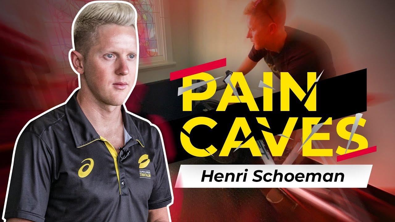 Pro triathlete pain cave tour // Henri Schoeman Zwift pain cave set up //