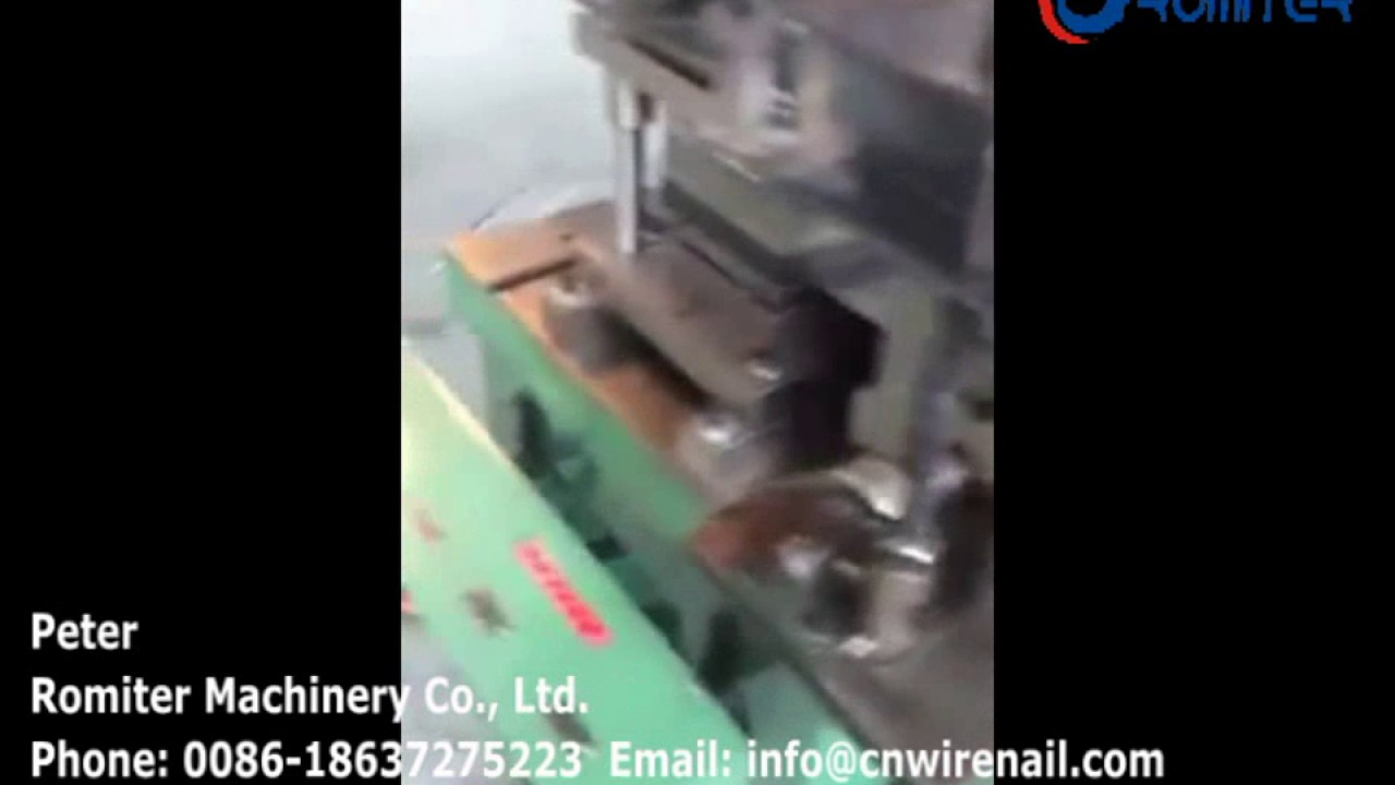 Full Automatic Roofing Nail Cap Making Machine for Sale-Romiter ...