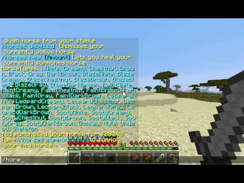 Minecraft Horse Stables Plugin Commands And Tutorial