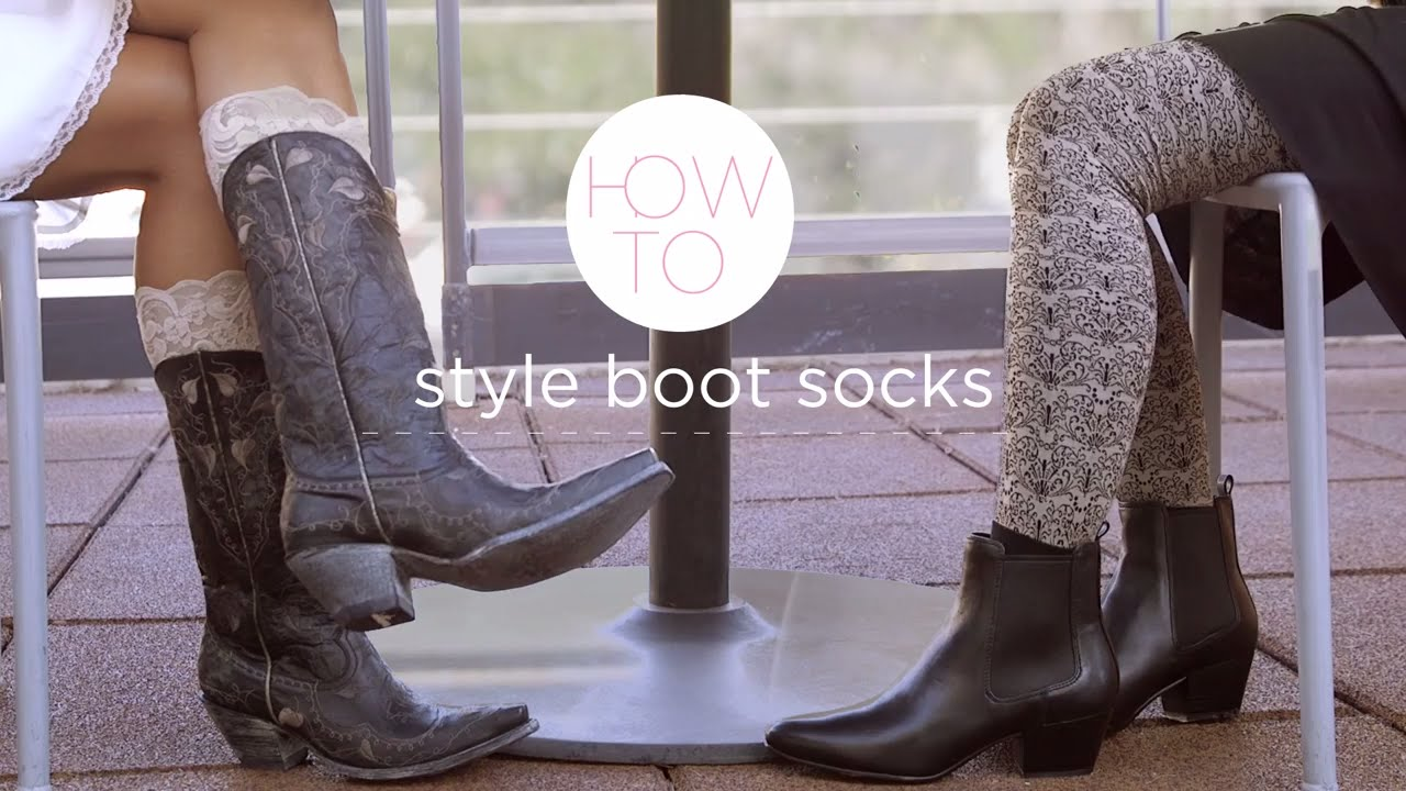 f82ed9270c2c How to Style Your Boots with Socks - YouTube