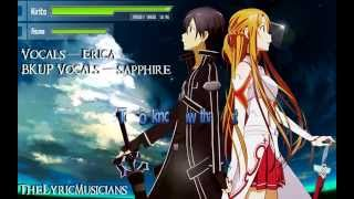 [Lyrics]Sword Art Online ~ Crossing Fields[English-Dub]