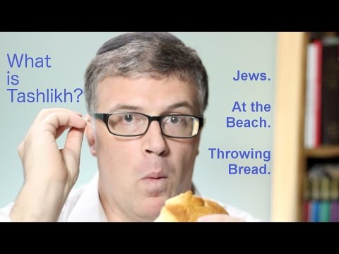Jewish Holidays Explained: What is Tashlikh? Jews, at the Beach, Throwing Bread.