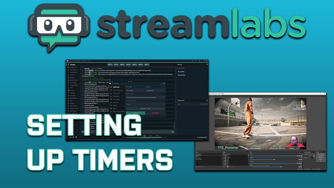 Streamlabs Chatbot: Setting Up Timers (Bot Messages)