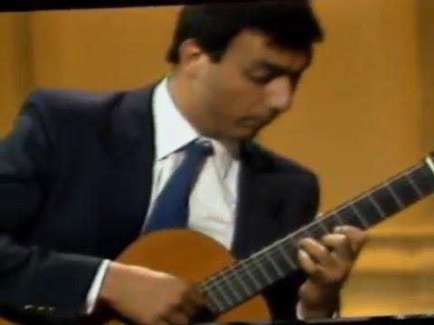 Marcelo Kayath plays Ponce Variations Folias Espagna in the 1986 Segovia Masterclass