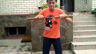 обучение нескольким трюкам с нунчаками!