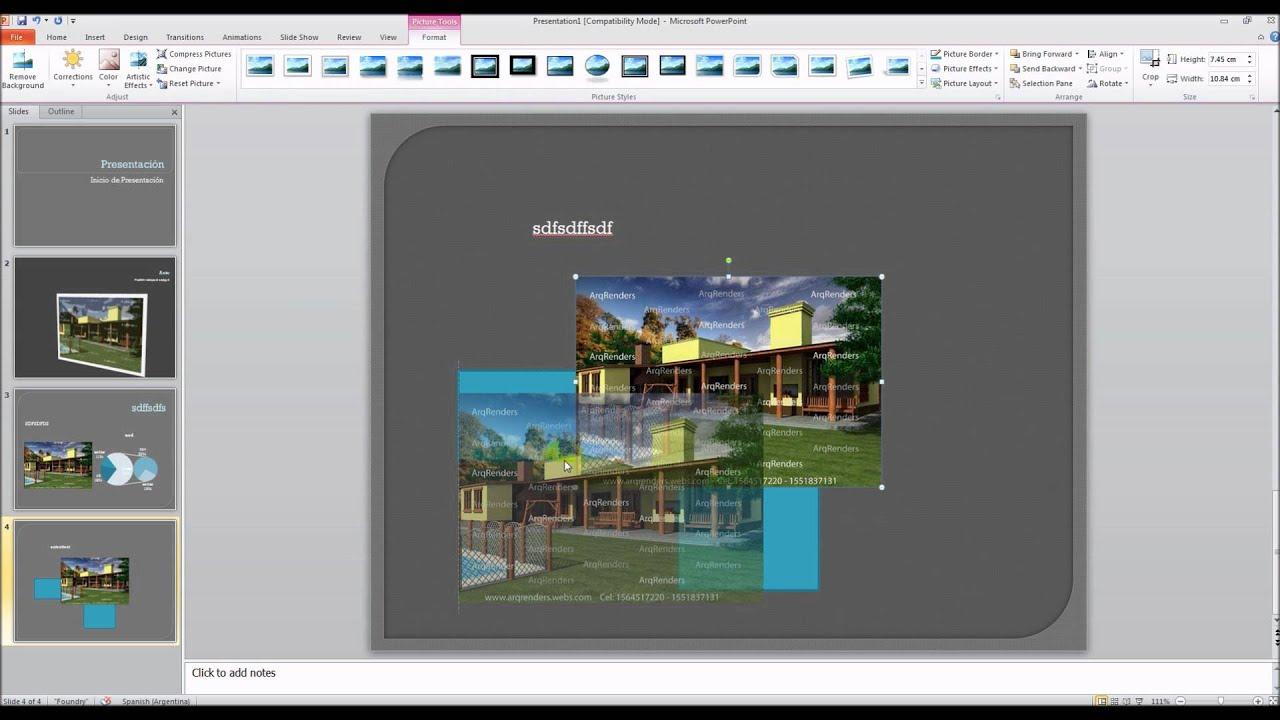presentacion de diapositivas