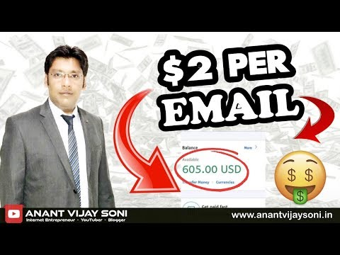 $2 Per Email - Make Money Collecting Emails - No Website Needed - Hindi Video