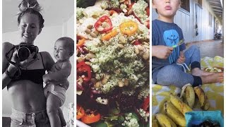 What I Ate Today as a Breastfeeding Mom, Raw Vegan