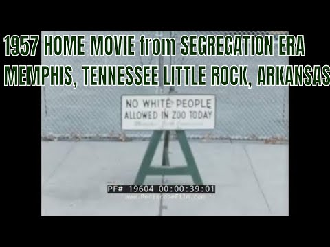 1957 HOME MOVIE From SEGREGATION ERA  MEMPHIS, TENNESSEE  LITTLE ROCK, ARKANSAS CENTRAL HIGH  19604